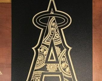 Custom artwork of Los Angeles Angels logo
