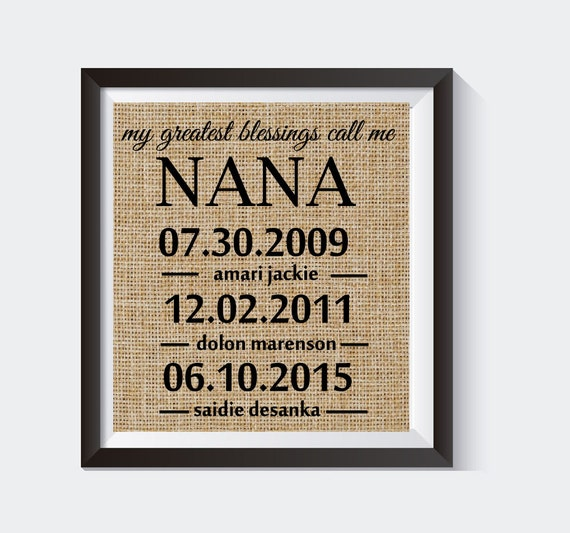 My Greatest Blessings Call Me Nana Nana S Birthday