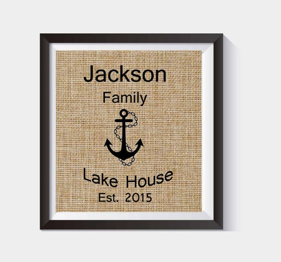 House Warming Gift With Anchor Personalized Beach House Lake