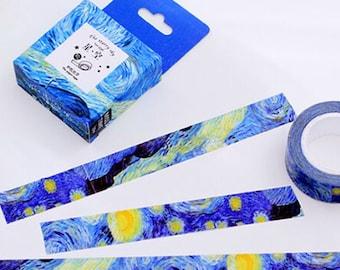 Van Gogh starry night art washi tape