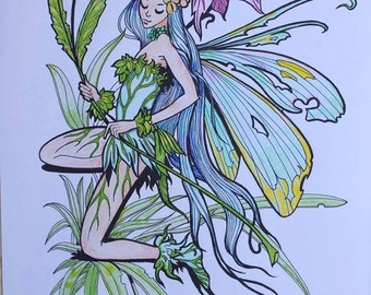 Hand colored fairy