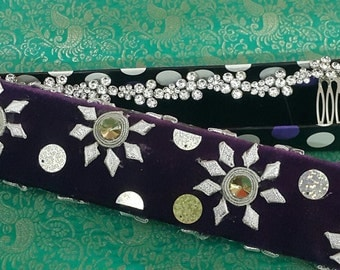 Decorative Jewelry Gift Box with Sequins, Stone and Gotti Work