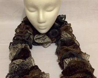 Sashay, scarf, scarfs, sashay scarf, frilly scarf, ruffle scarf