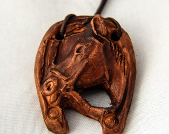Altay ceramic pendant Head of horse