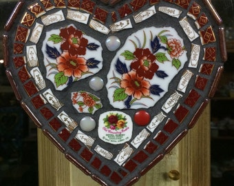 Heart Mosaic wall hanging
