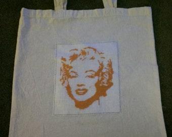 Marilyn monroe tote shopping bag
