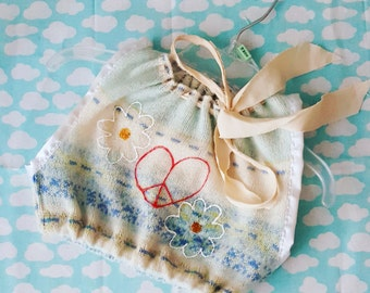 Vintage Boho Peace & Love Crop top