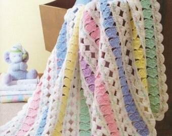 Rainbow Sweet Heart Blanket, Crochet Pattern. PDF Instant Download.