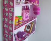 60cm H x 60cm W Childrens Pink Hello Kitty Bedroom Shelves Bookcase Toy Storage.
