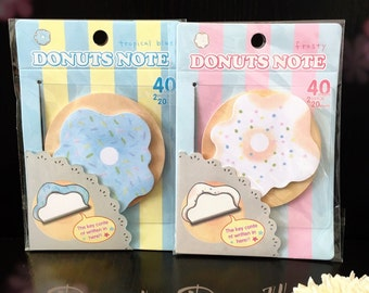 Donut Sticky Memo Notes / To-do list / Shopping list / Desk / Office / Stationery / Doughnut / Teacher / Gift