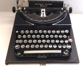 Remington Model 5 Portable Manual Typewriter