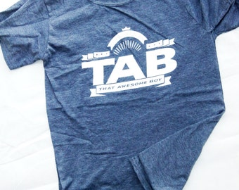 That Awesome Boy Heather Navy adult ringspun t-shirt