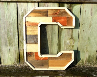 Individual Wood Letters, Handmade Wooden and Upcycled Wall Art