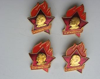 Komsomol Pin Badges