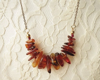 Baltic Amber Chain Necklace
