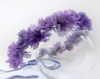 Headband with cornflowers, wreath with cornflowers, cornflowers Headpiece, handmade flowers, headband for girls