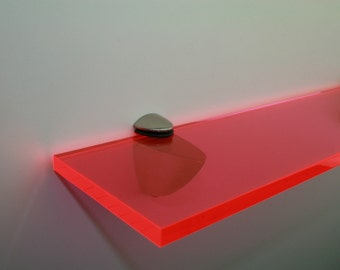 Acrylic Coloured Shelves - Red Neon for Interiors