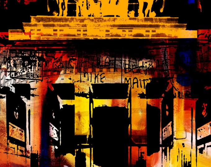 BERLIN ART XIV by Sven Pfrommer - Artwork on canvas is ready to hang