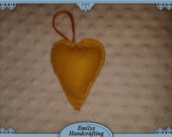 Orange Heart Hanger
