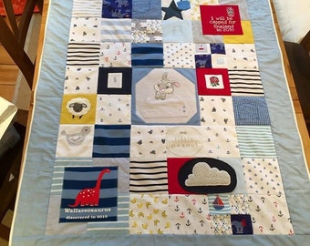 3 panel baby memory quilt