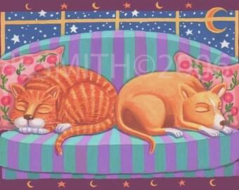Warm Friendship - Friendship Card - Cat & Dog Card - Cute Cat Card - Blank Card