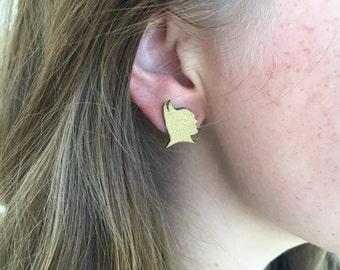 Batman Gold Earrings