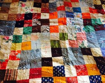 Vintage Handtied Quilt - Patchwork