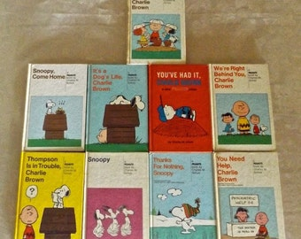 Charlie Brown / Snoopy Book Collection of 9 Hardcovers from 1950s to 1970s by Charles Schulz