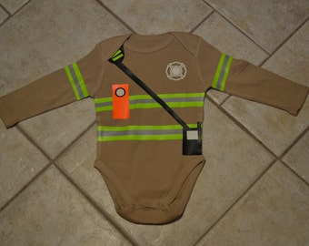 Baby Firefighter Onesie