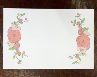 Floral Watercolor Paper Placemats