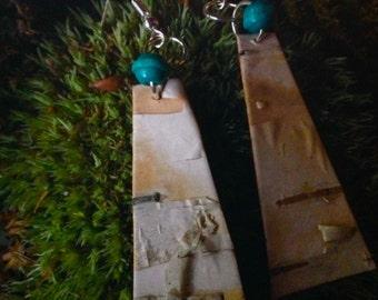 Birch earrings from NH woods