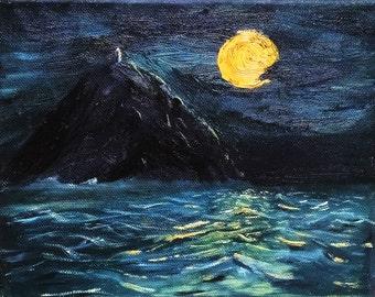 Painting for sea dark decor