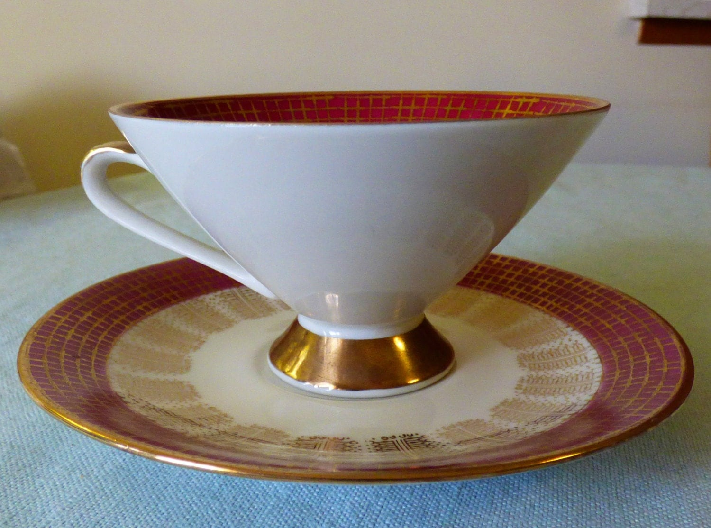 elfenbein bavaria porzellan tea cup and saucer set. Black Bedroom Furniture Sets. Home Design Ideas