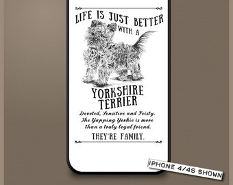 Yorkshire Terrier dog phone case cover iPhone Samsung ~ Can be Personalised