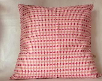 Cushion diamond multico cover pink