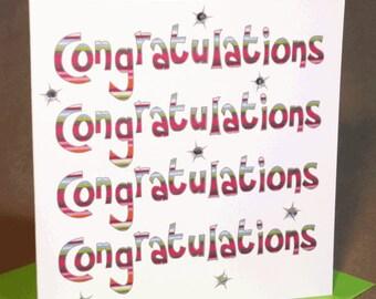 Congratulations Card  (jewelled)