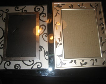 Two Classy Glass Design Picture Frames