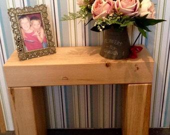 Oak side table. wooden side table. side table. shelve. wood shelve. coffee table. wood coffee table