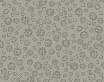 Verona Gray Flowers by Emily Taylor Riley Blake Designs - C2803 Gray Floral Print - Quilters Cotton for Sewing Projects, Apparel Fabric