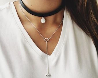 Evil Eye T-Shirt Necklace