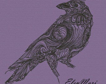 MACHINE EMBROIDERY DESIGN - raven