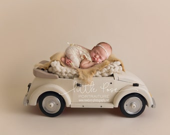 Little Pose ~ Car Neutral Newborn Digital Background High Res jpg file