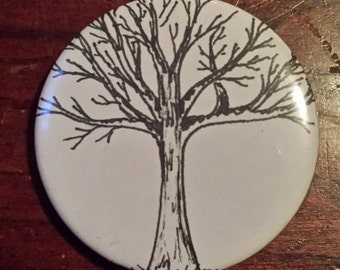 Pin-Back Button; Tree Design