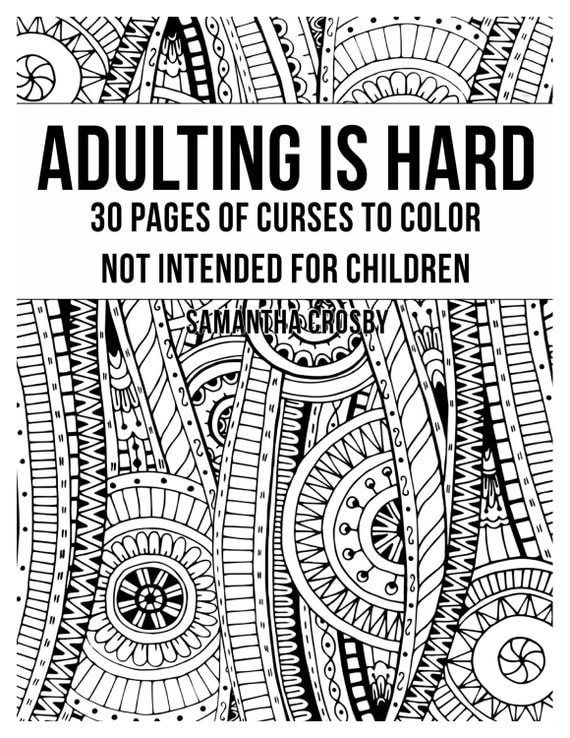 Adult Coloring Book Coloring Book Swear Word Coloring Book
