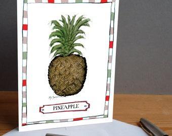 pineapple -  fun greeting card