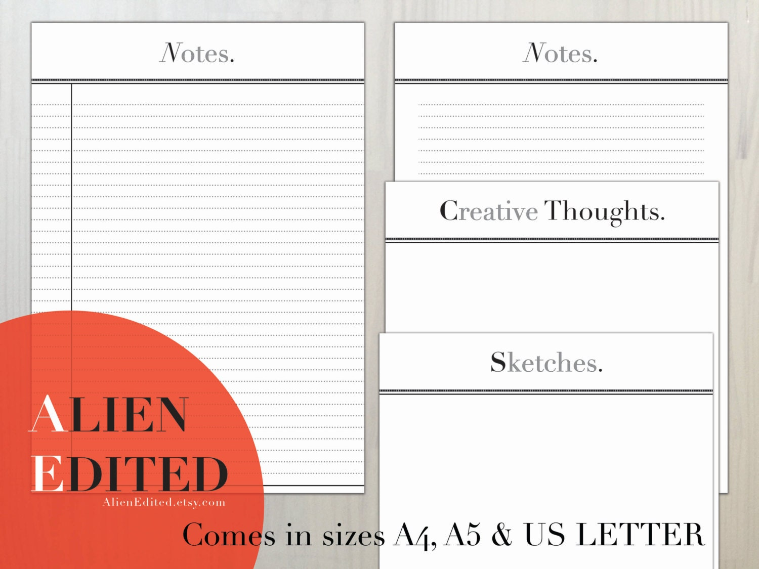 Notes A4 A5 US LETTER Lined Paper Notepad Writing Paper – Lined Letter Paper