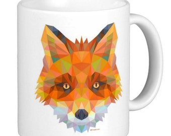 Fox Head Abstract ARt, Double sided, Gift Mug