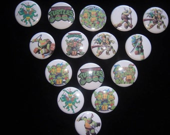 TMNT Buttons Set of 15