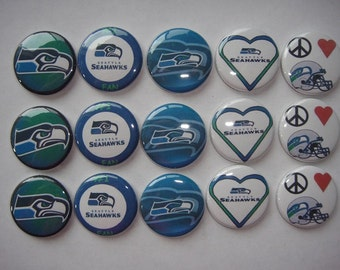 Seattle Seahawks Buttons Set of 15