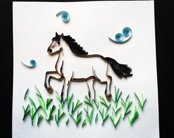 Quilled Horse